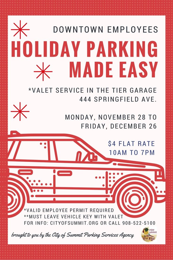 2016 Holiday parking valet poster
