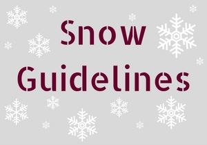 S snow guidelines