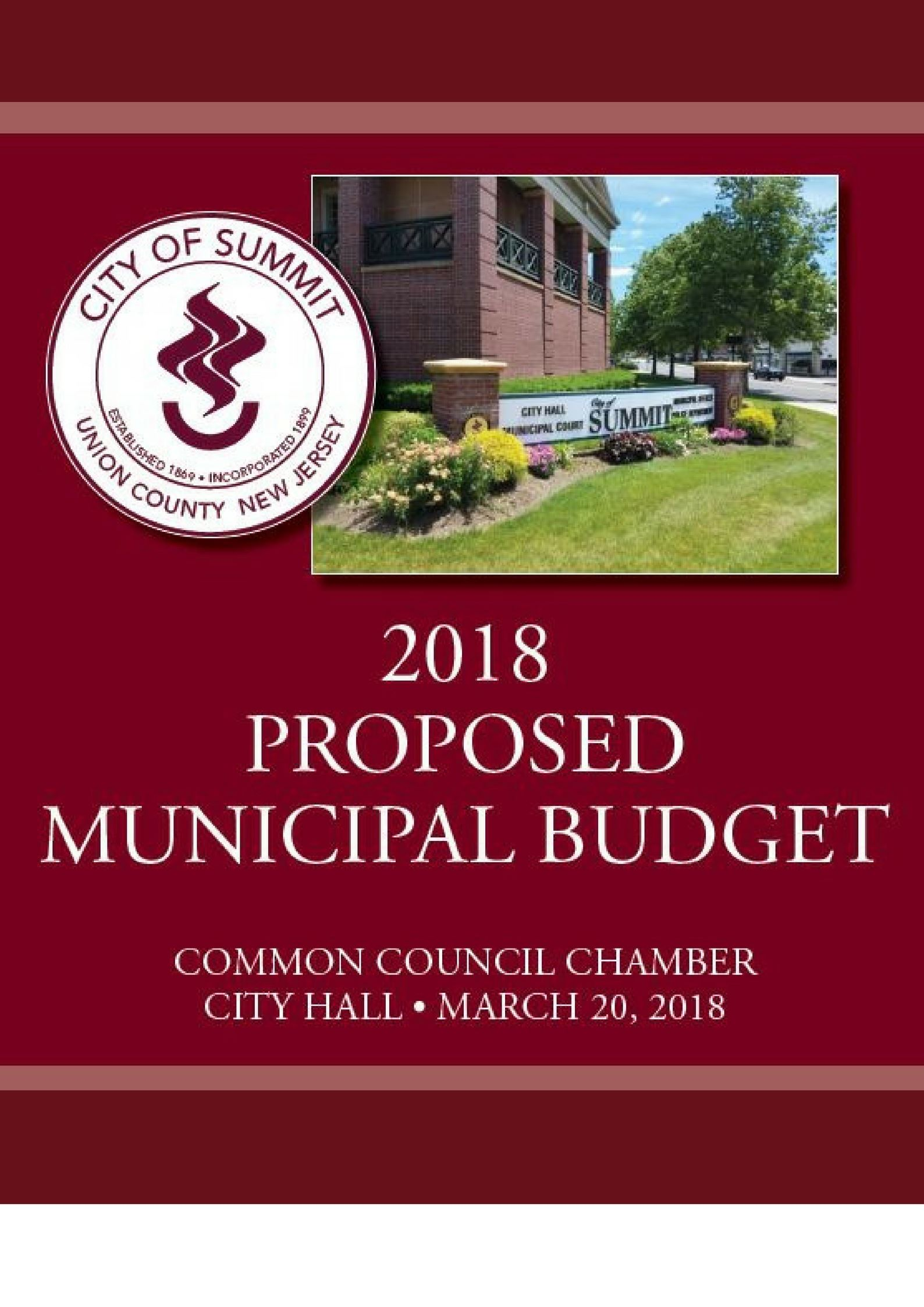 2018 Proposed Budget(2)