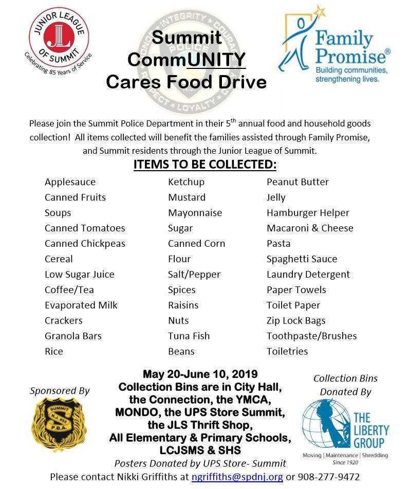 SPD Community Cares food drive