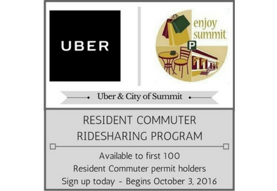 Summit nj archived summit commuting residents city is offering uber rides to the train station reheart Image collections